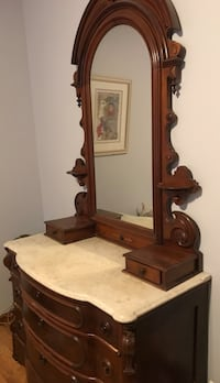 Marble top dresser and matching bed  Colonie, 12110