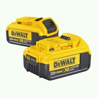yellow and black DeWalt power tool battery Towson, 21204