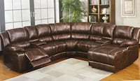 Brand New Brown Leather Living Room Set !