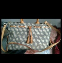 gray and white Dooney & Bourke leather crossbody bag screenshot Glendale Heights