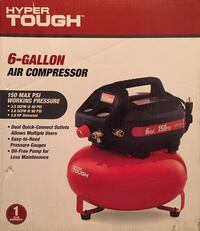 New Hyper Tough 6 Gallon Pancake Air Compressor