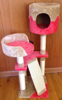 Pet Furniture Cat Tree Kitten Play House Tower Condo Bed Scratch Post w Toy Ball Northglenn