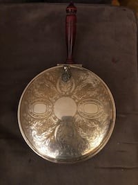 Antique silver plated pan