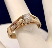 14k yellow gold diamond engagement promise ring *Priced Super LOW ! ! Vaughan, L4J