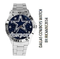 Dallas Cowboys Custom Casual Stainless Steel Band Dress Wrist Watch Westminster