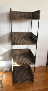 Wicker shelf