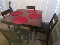 rectangular brown wooden table with six chairs dining set Bonita, 91902