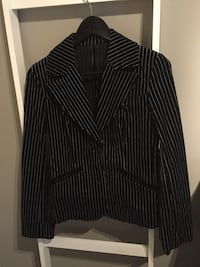 Sort/stripet blazer /velour, str 38 Tromsø, 9009
