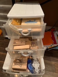 Full stamp collection and craft drawers