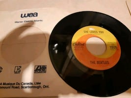 45 rpm beatle record in original sleeve