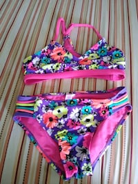 Justice swimming suit size 12 kids used