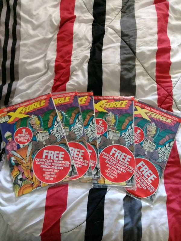 X-Force issue #1 All collector's issue comics A-E