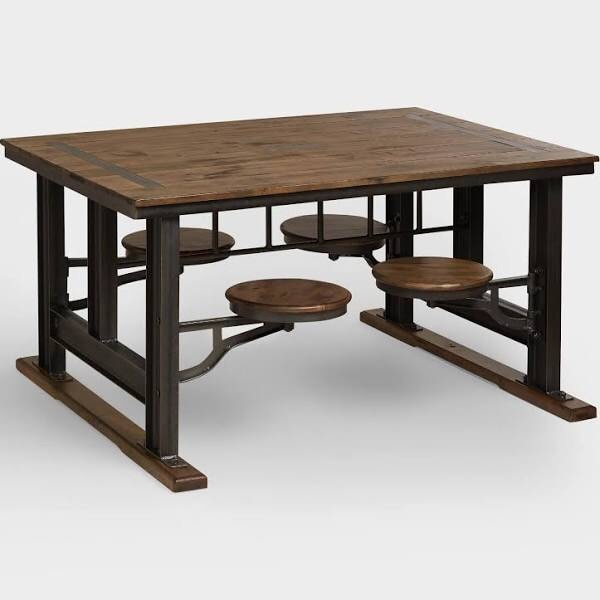 Used Worldmarket Swing Out Stool Galvanized Steel And Wood Table For In Silver Spring Letgo