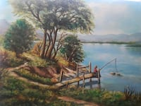 brown and green tree near body of water painting Fresno, 93703