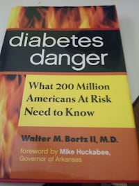 Diabetes Danger -- Hardcover Book -- What 200 Million Americans At Risk Need To Know Schaumburg, 60193