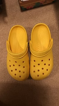 pair of yellow Crocs rubber clogs Frederick, 21704