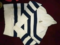 white and black striped pullover hoodie Newport, 37821