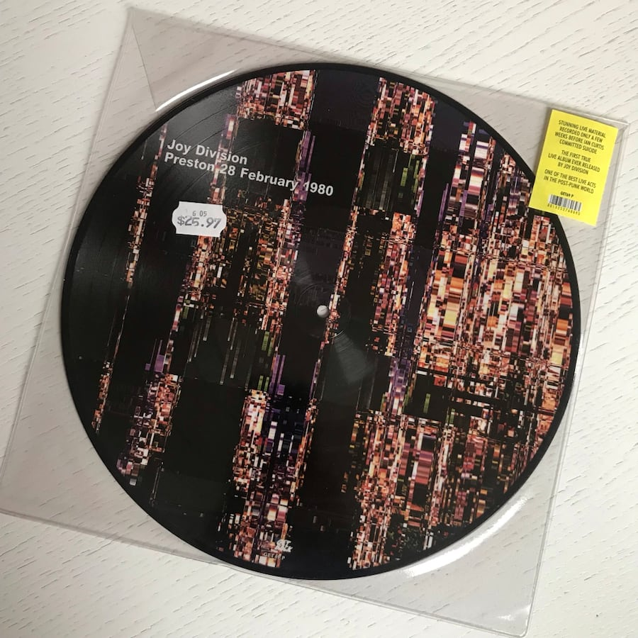 Joy Division Vinyl Picture Disc