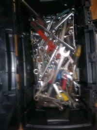 Toolbox with tools and a tray