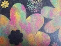 Flower painting canvas