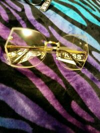 gold-colored and pink-framed eyeglasses Panama City, 32405