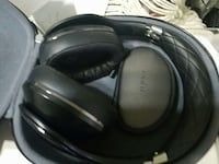 black wireless headset