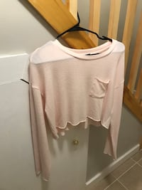 Crop Light Pink Top Waterford, 06385