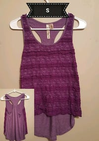 purple scoop-neck sleeveless top Auburn, 42206