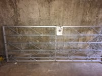 Gray metal security patio gate with lock and steel gate for window Montréal, H1S 1K3