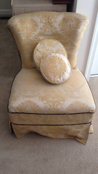 brown and white floral fabric sofa chair Falls Church, 22042
