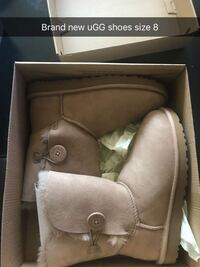 pair of brown leather boots with box Stevenson Ranch, 91381