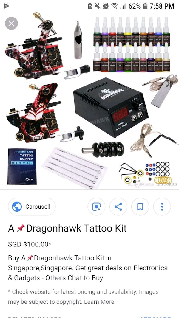 Used black and red tattoo machine for sale in Citrus Heights - letgo