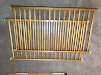 brown wooden crib with changing table Gainesville, 20155