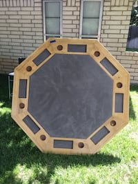 Hand made poker table at 3309 Clabern Dr. In Amarillo if you want to see it. Amarillo, 79121