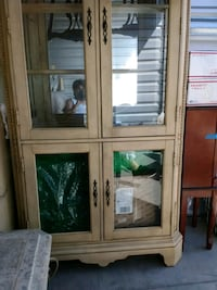 brown wooden framed glass display cabinet Antioch, 94509