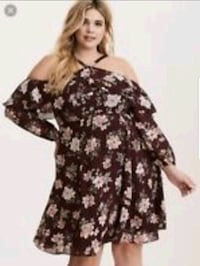 women's black and white floral dress Downey, 90241