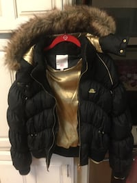 JLO black & gold puffy jacket