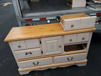 white and brown wooden dresser Randallstown, 21133