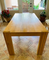 Dinning table Handcrafted mango wood one piece table Upholstered Dining Chairs,  had it for 6 months Las Vegas, 89117