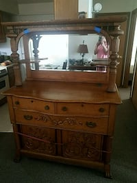 brown wooden dresser with mirror Wentzville, 63385