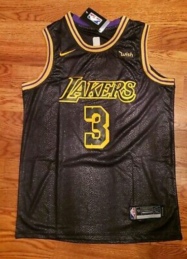 A.Davis Lakers Snakeskin Jersey Brand New Xl/2xl 0