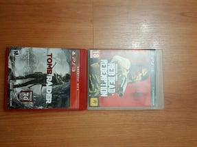 PS3 RED DEAD REDEMPTION . TOMB RAIDER