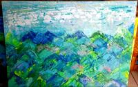 green mountains painting