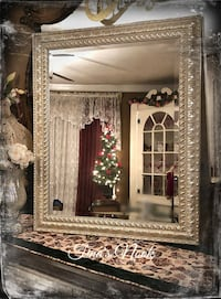 Gorgeous silver framed mirror Middle Island