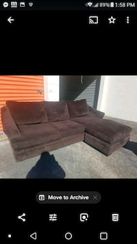 Sectional with reversible chase lounge $280 Chesapeake, 23325