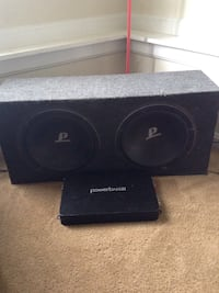 Two 12 inch subs & 1200 watt app with power cords 46 mi