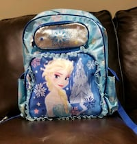 blue and white Disney Frozen backpack 513 km