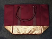 New Maroon Bag with gold glitter Smyrna