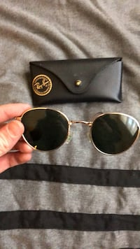 gold framed Ray-Ban aviator sunglasses with case Columbia, 29210