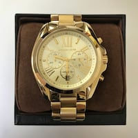 round gold Michael Kors chronograph watch with link bracelet Pittsburg, 94565
